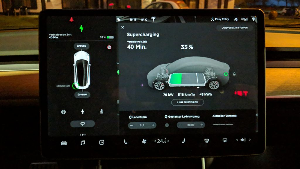 Ladeleistung am Supercharger in Moers
